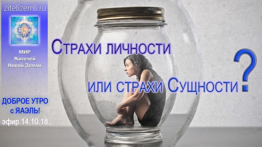Доброе Утро с ЯАЭЛЬ! Страхи личности или страхи Сущности?