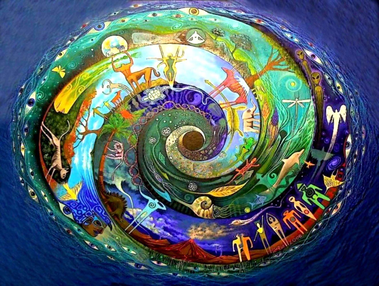 Спираль жизни фотоколлаж